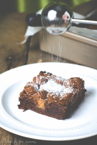 Peanut Butter Cup Brownies for OXO's Cookies for Kids' Cancer #OXOGoodCookies
