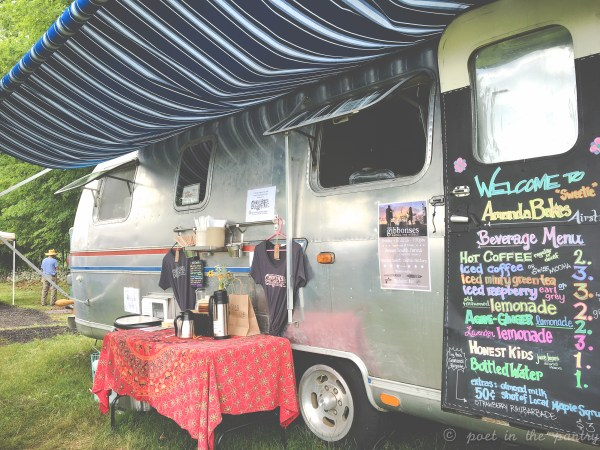The AmandaBakes Airstream parked at South Farms for The Morris Marketplace
