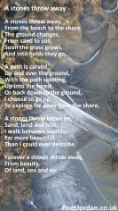14 A stones throw away Poet Jordan Volume 31