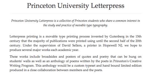 Princeton University Letterpress