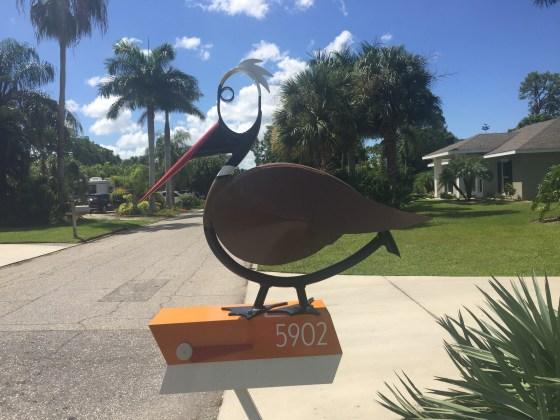 Wood Stork Mailbox