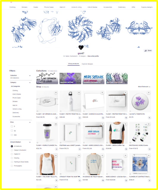 image of the online shop