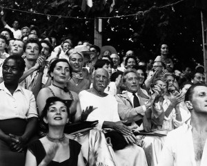 August 1955, France --- Picasso at Bullfight --- Image by © Vittoriano Rastelli/Corbis