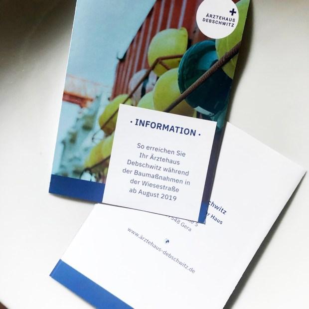 Erstellung von Werbematerialien wie Flyer für das Ärztehaus in Debschwitz.