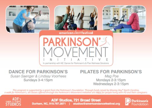 PMI, ADF, Dance for Parkinson's, Pilates for Parkinson's