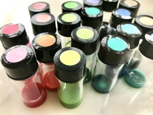 Bottles of lightfast ink mixes