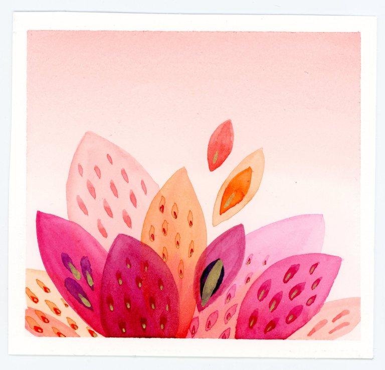 Abstract botanic watercolor