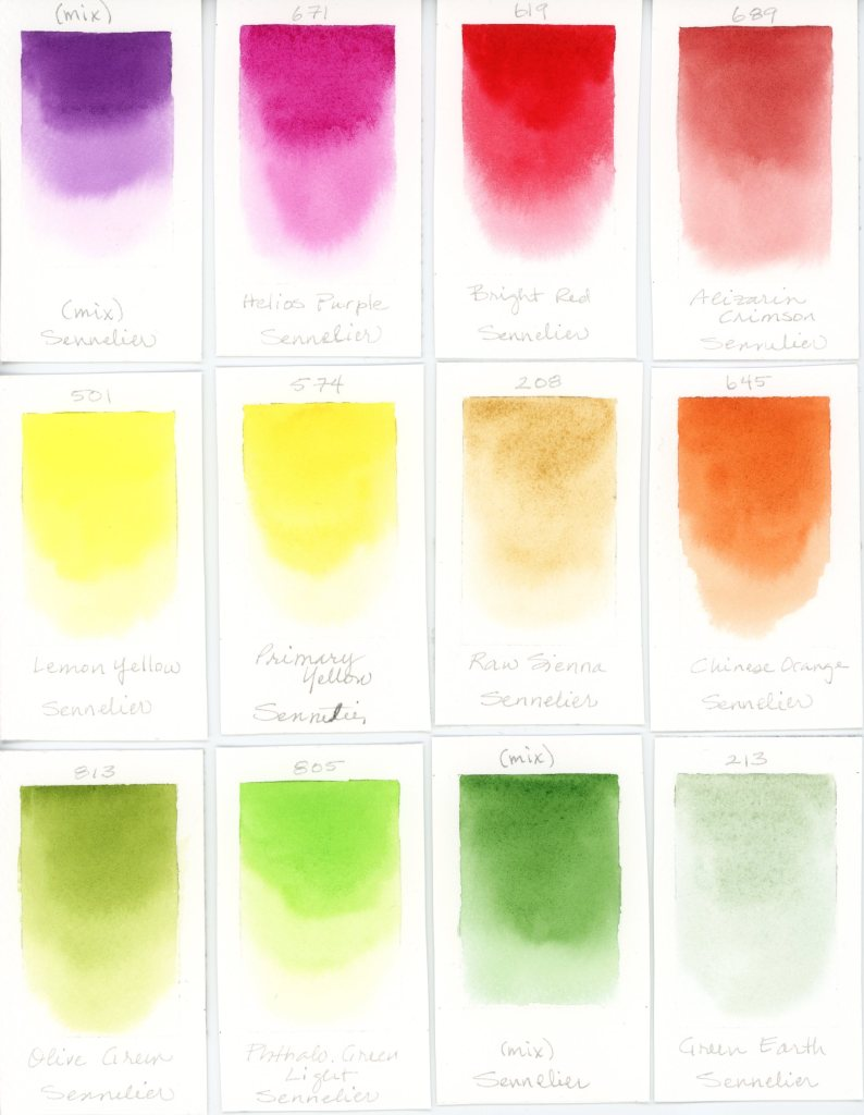 Sennelier watercolor swatches (1)