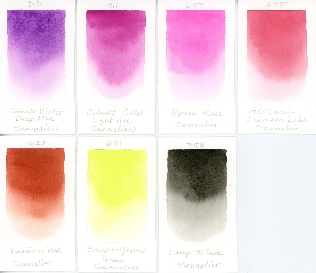 Sennelier watercolor swatches (3)