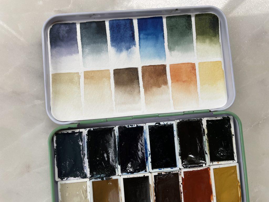 Earth Tones watercolor palette 2021