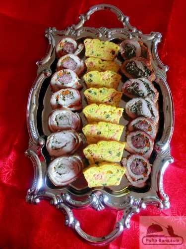 Chec aperitiv cu somon si capere  (tarta-quiche)