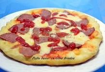 Pizza rapida, la tigaie, pankes aperitiv