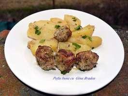 Chiftelute la cuptor, cu cartofi