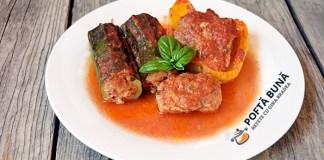 Ardei si dovlecei umpluti cu carne si parmezan, reteta italiana