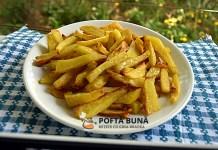 Cartofi prajiti la cuptor, cu doar 1 lingura de ulei, mult mai sanatosi