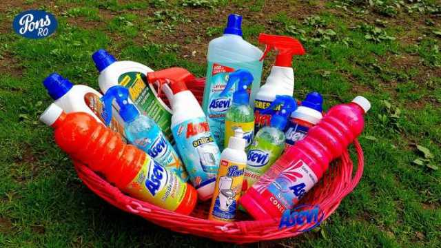Concurs de mai cu produse de curatenie de la Pons-Asevi