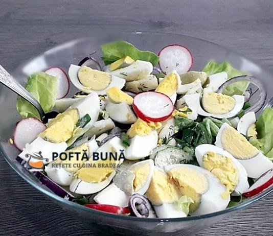 Salata orientala de primavara, reteta de salata de cartofi cu legume