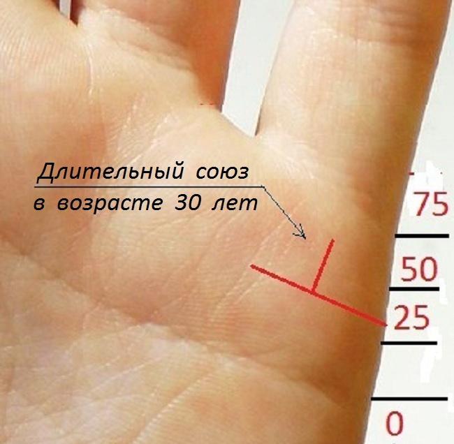 линии брака на руке дата