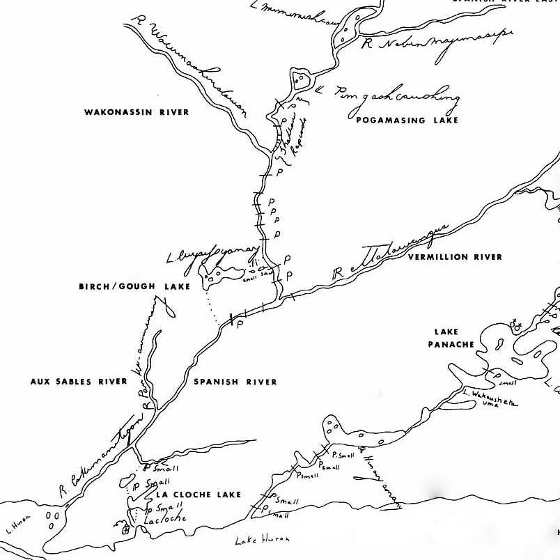 Old Maps: From the North Shore to Lake Pogamasing