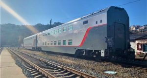 Новые двухэтажные железнодорожные вагоны в тоннели Севастополя проходят. Тестировали
