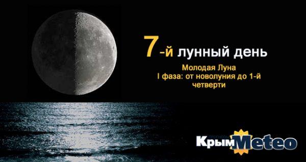 Сегодня - 7 лунные сутки. Не болтай!