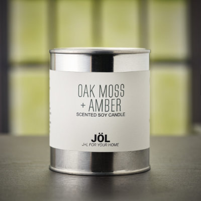 Oak Moss + Amber Scented Candle