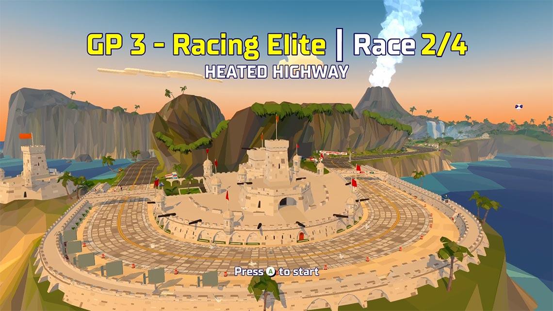 Grand Prix zazwyczaj składa się z 4 wyścigów