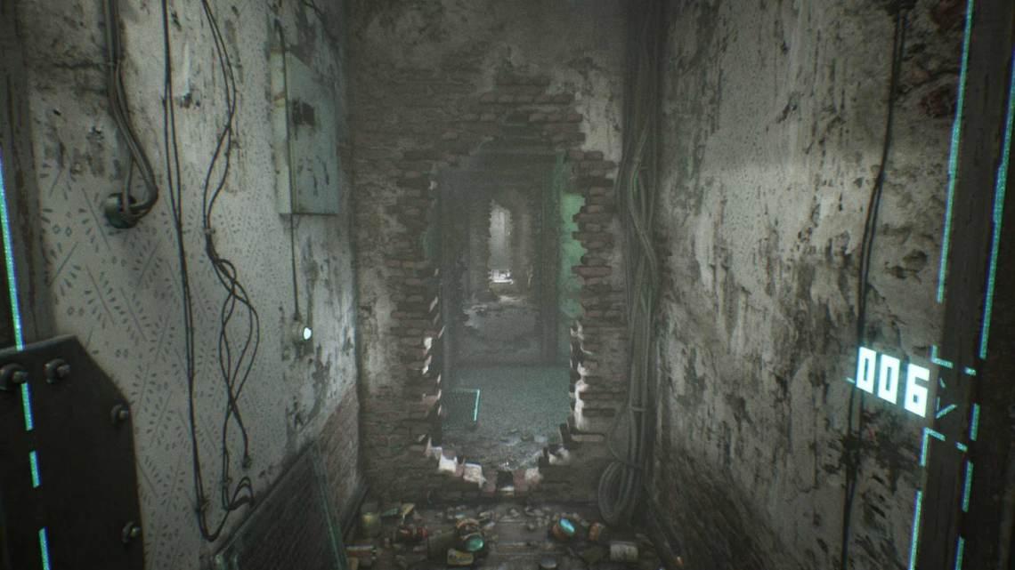 Zniszczone piętro