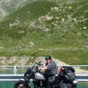 In the Swiss Alps on the way to HOG European Rally 2012