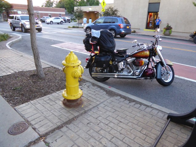 Bike with Fire Hydrant.. just cos I like this look of them together