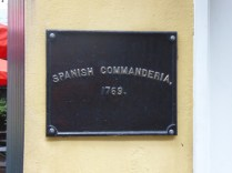 Many of the buildings have plaques
