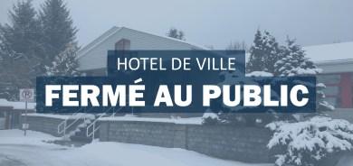 Hôtel de ville fermé au public