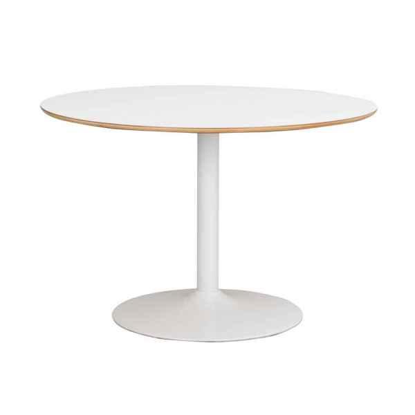 Fusion pyöreä ruokapöytä valkoinen trumpettijalka