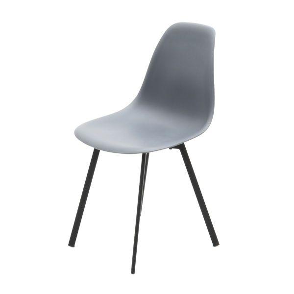 Polly-tuoli harmaa mustat jalat