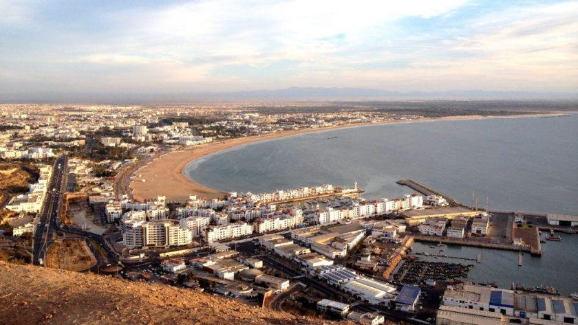 Agádír, Maroko - výhled z Kasbahu