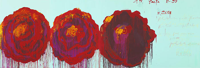 the-rose-by-cy-twombly-acrylic-on-plywood