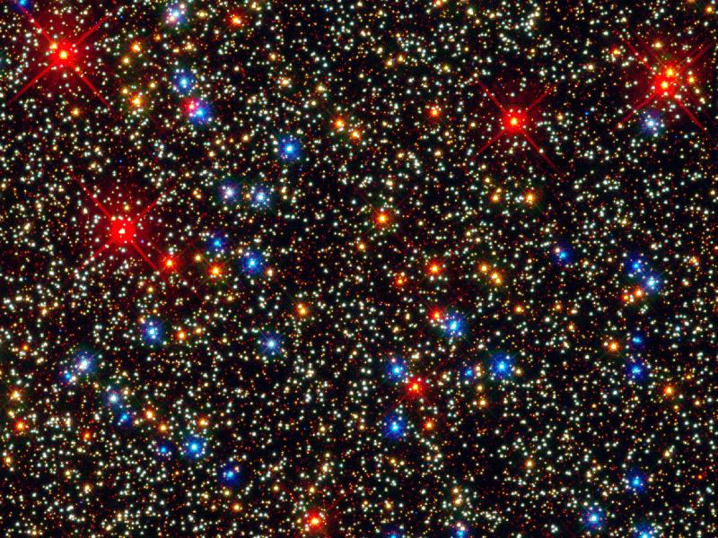Hubble Sea of Stars