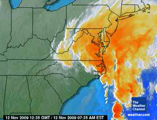 Satellite Image for 11-12 am