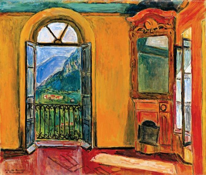 """""""Das Hesse Zimmer in der Casa Camuzzi"""" (1950)"""