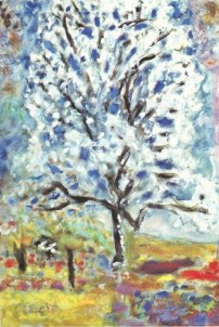 """""""Almond Tree in Flower"""" (1947)by Pierre Bonnard"""