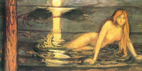 """""""The Lady from the Sea"""" (aka Mermaid, 1896)by Edvard Munch)"""