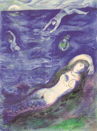 """""""So I Came forth of the Sea"""" (1948, illustration)by Marc Chagall"""