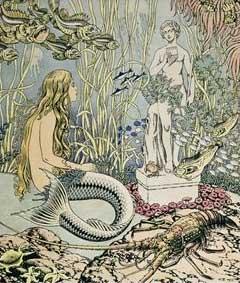 """The Little Mermaid"" (1937, illustration)by Ivan Bilibin"