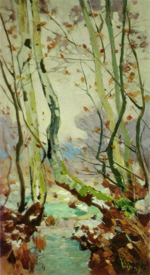 """Küste mit Buche"" (1913, oil on canvas)"