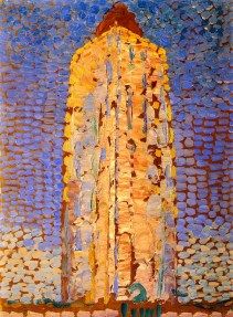 """""""Lighthouse at Westkapelle"""" (1910, oil on canvas)by Piet Mondrian"""