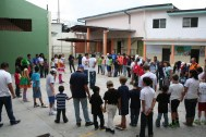 At INFHA, the state-run orphanage, the team celebrated with piñatas, cake, games and clowns.