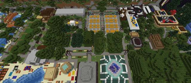Screenshot of Minecraft Town Made by MisfitMC