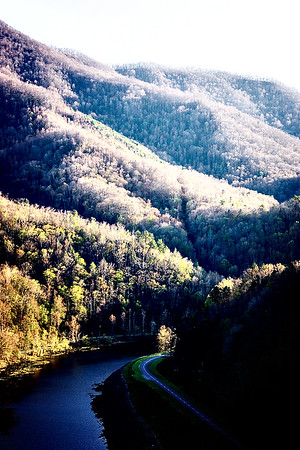 View from on top of Fontana Dam