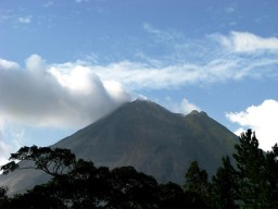 Arenal Volcano from the lodge