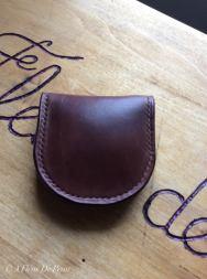 Patron porte monnaie cuir modèle classique